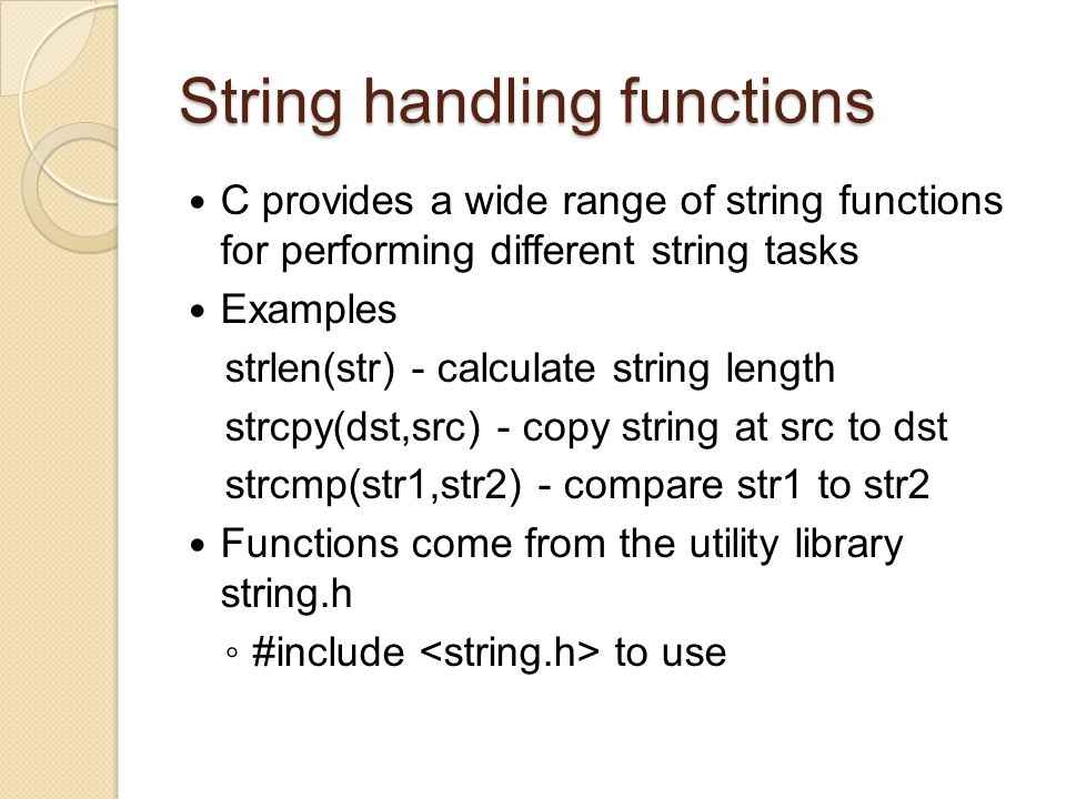 how to find substring in c using library functions