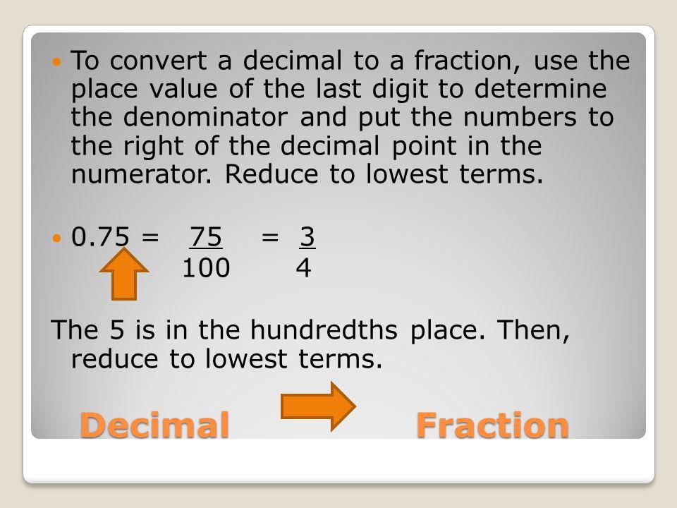 NS.09: Fractions, Decimals, Percents, and Ratios - ppt video ...