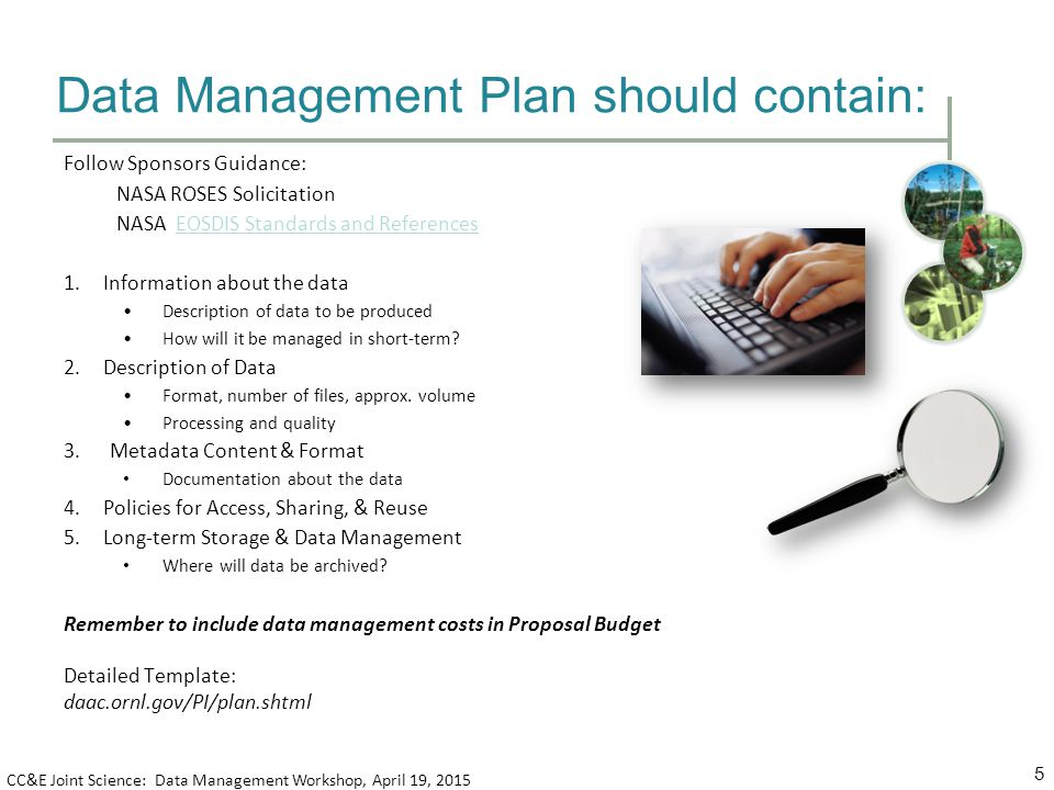 Elements of a data management plan ppt video online download for Data management strategy template