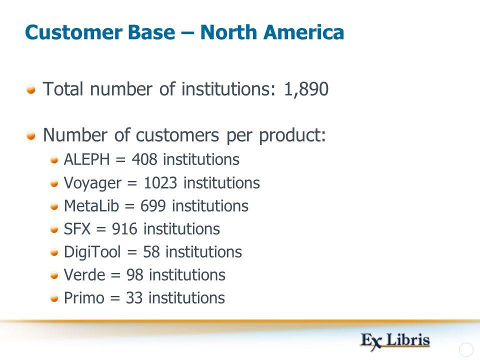 Customer Base – North America