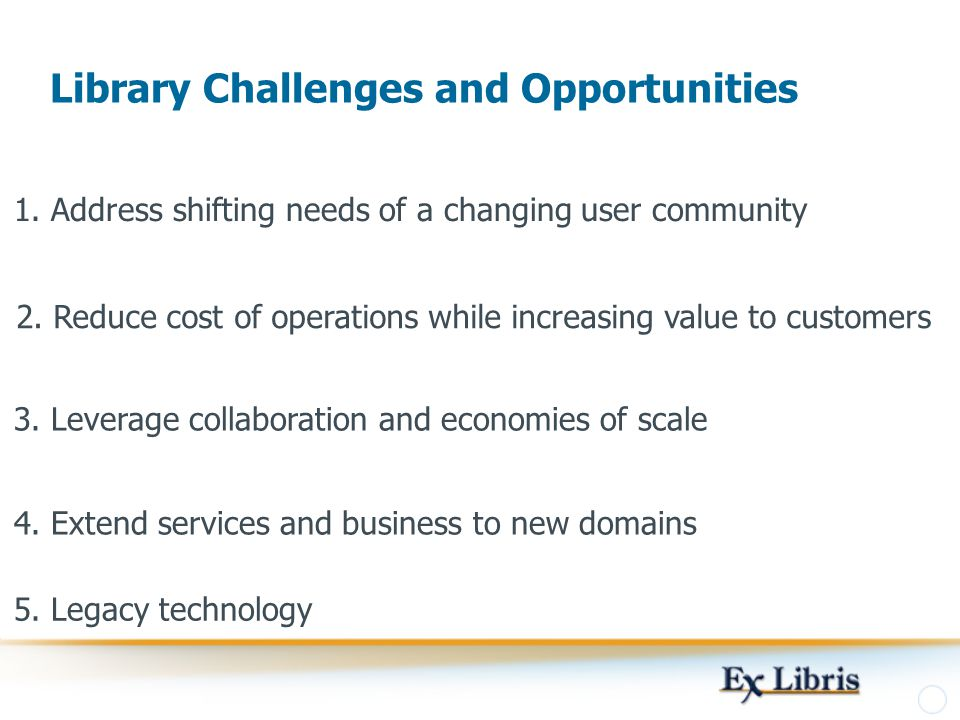 Library Challenges and Opportunities