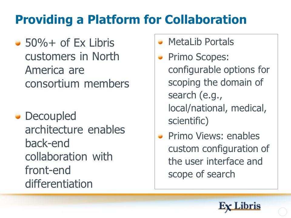 Providing a Platform for Collaboration