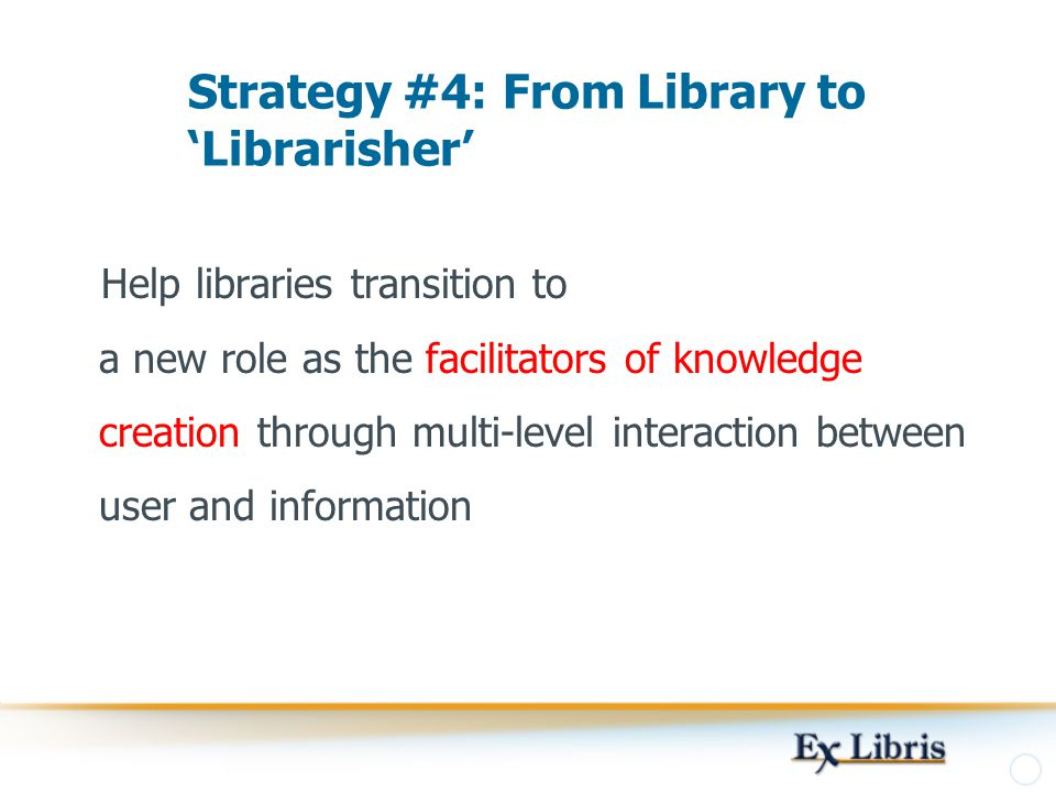 Strategy #4: From Library to 'Librarisher'