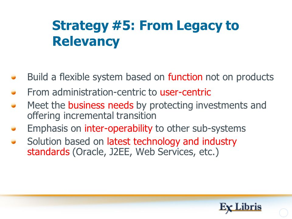 Strategy #5: From Legacy to Relevancy