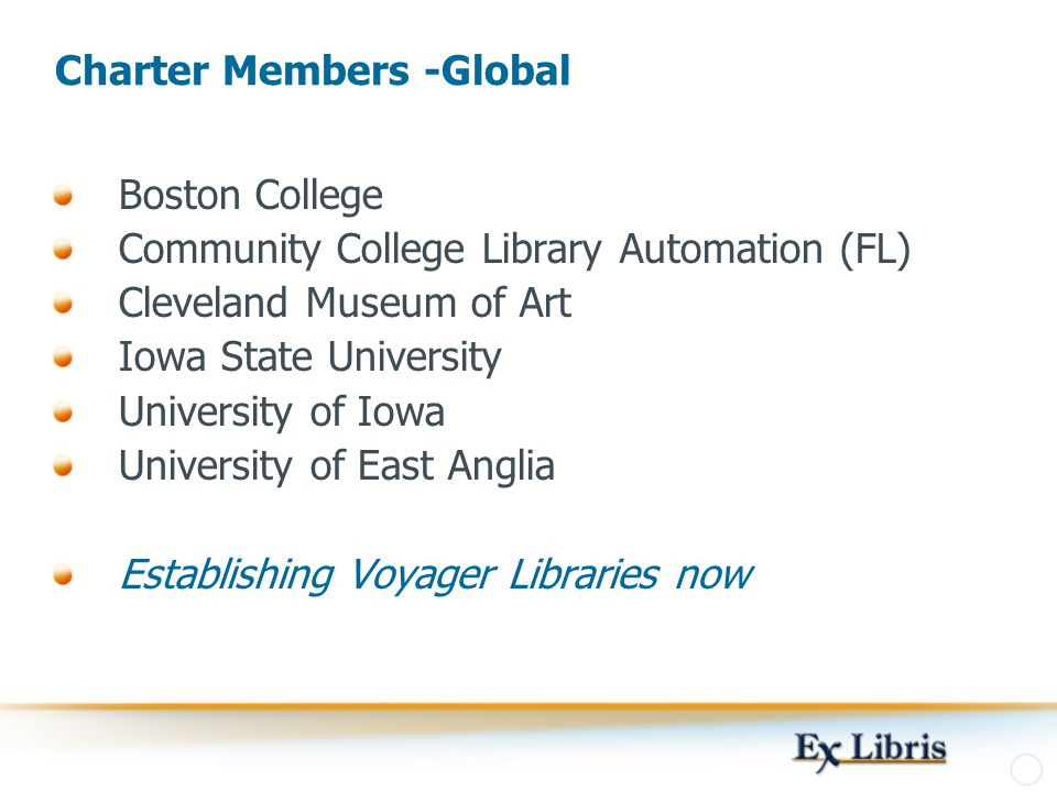 Charter Members -Global