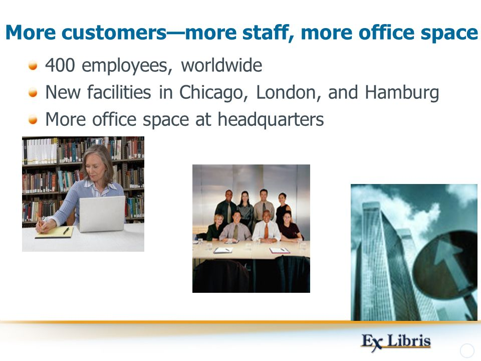 More customers—more staff, more office space