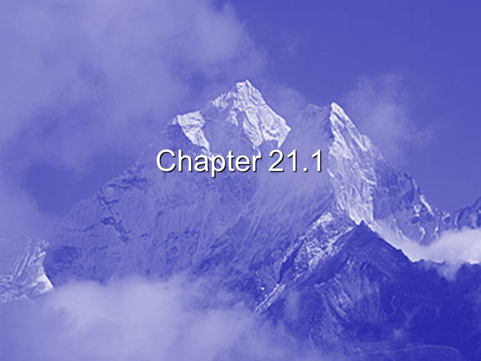 Chapter 21.1