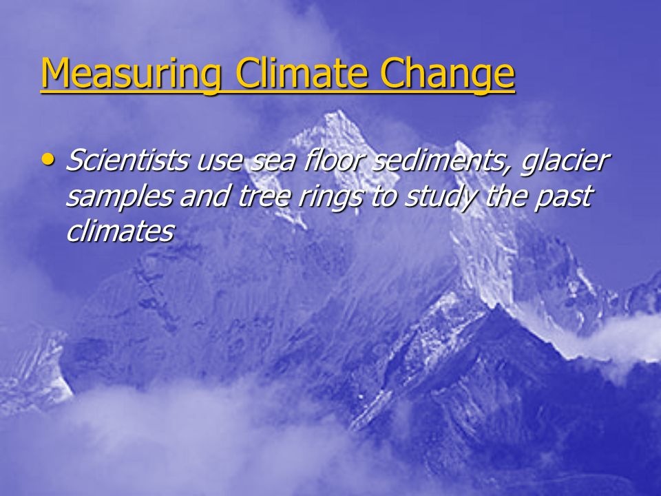 Measuring Climate Change