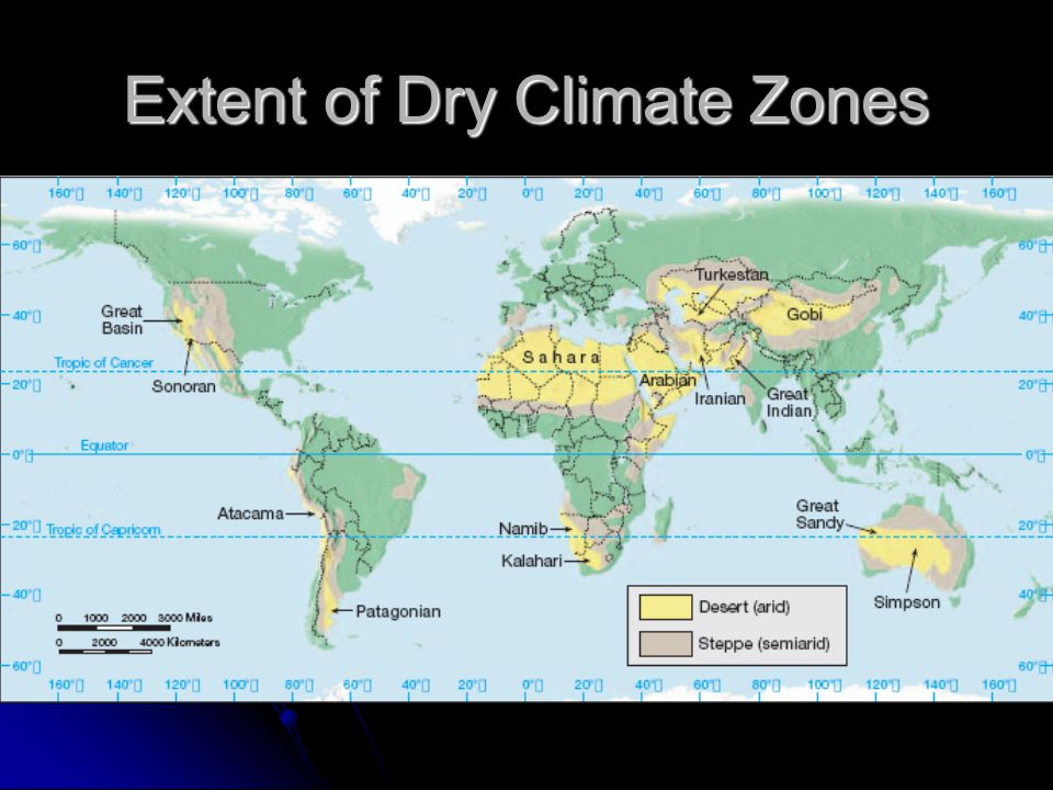 Extent of Dry Climate Zones