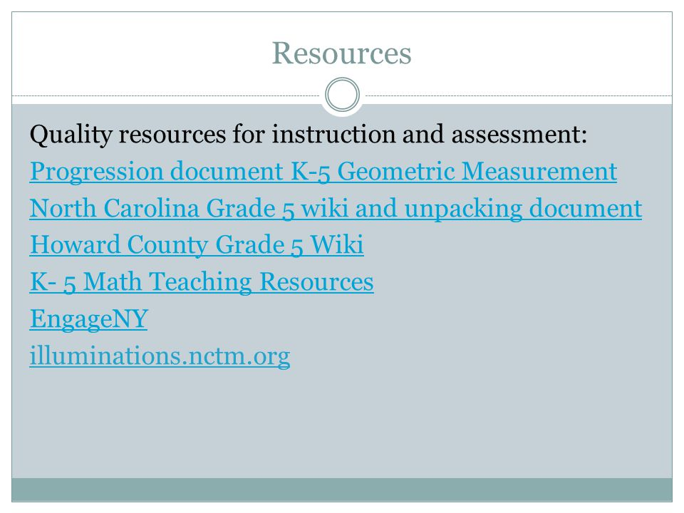 CCGPS Mathematics Grade 5 Update Webinar Unit 7: Volume and ...