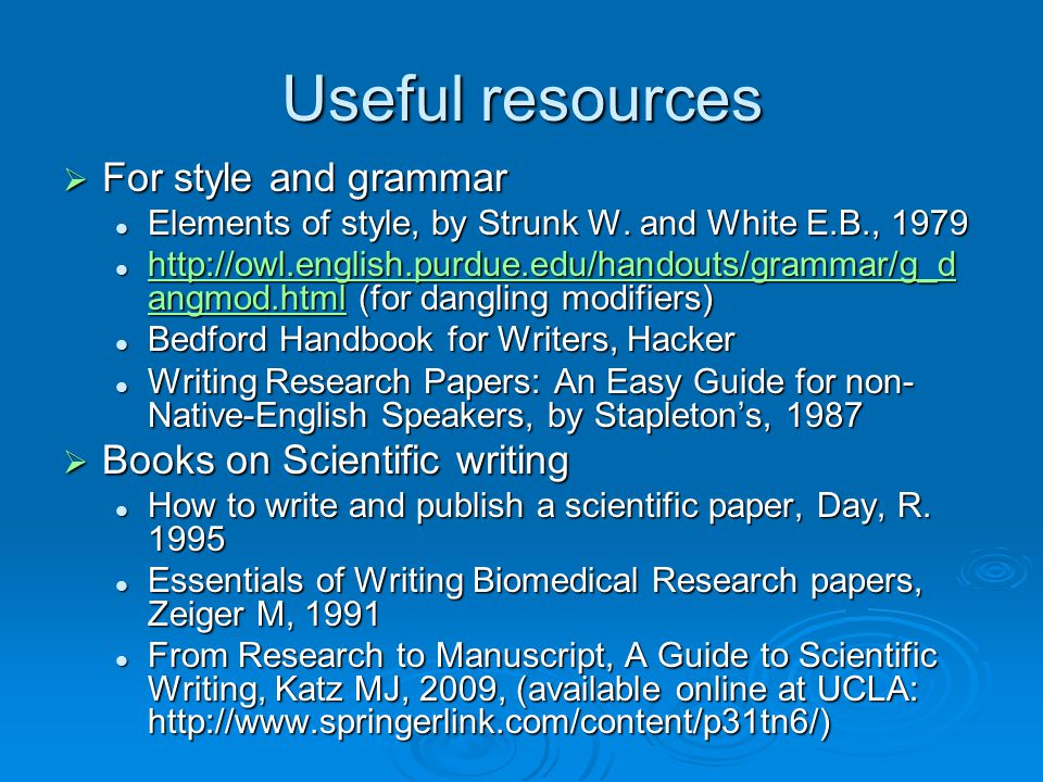 writing research papers an easy guide for non-native-english speakers Concise guide to writing research papers write this book is designed to enable non-native english speakers to peat jennifer et al scientific writing easy.