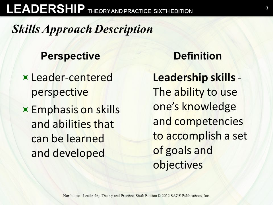 Skills Approach Description