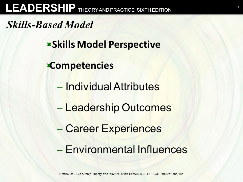 Skills Model Perspective Competencies Individual Attributes