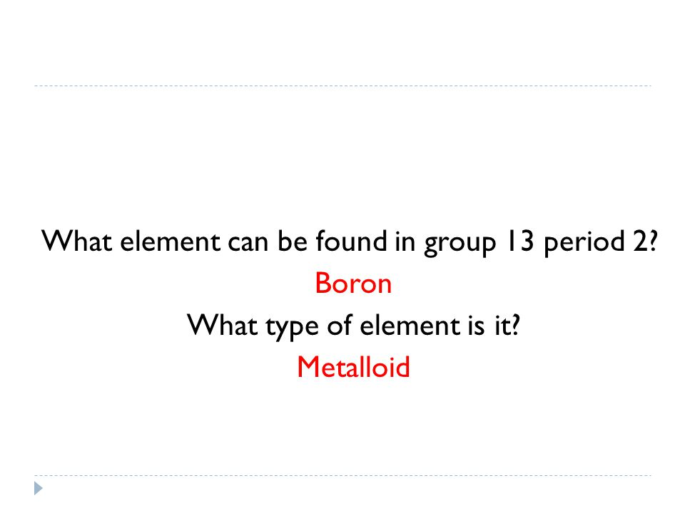 What element can be found in group 13 period 2