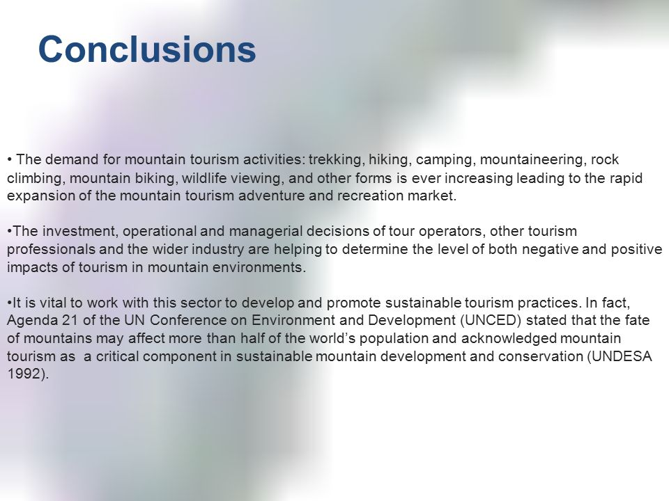 A look at how tourism affects mountain environments