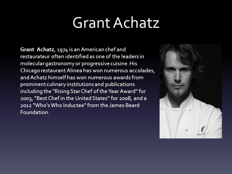Grant with alinea cuisine origin for Alinea chef de cuisine