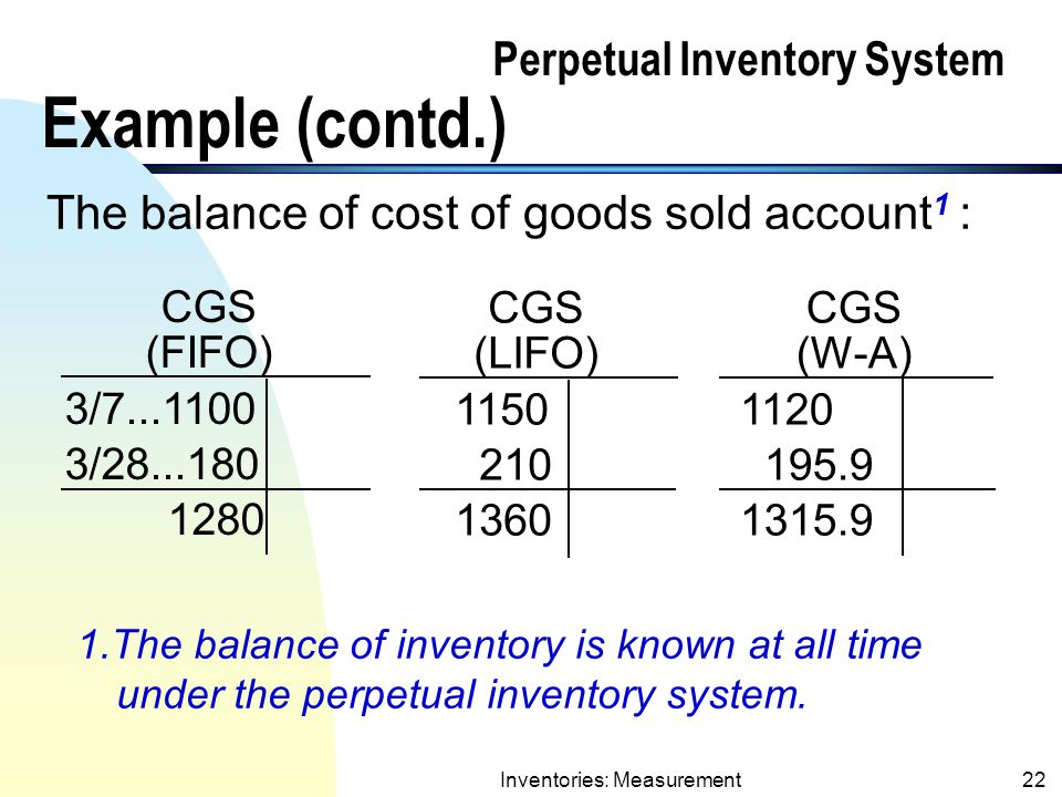 perpetual inventory system examples essay Learn what the just in time, or jit, inventory system is by contrasting it with the just in case inventory system and reviewing examples of the jit system.