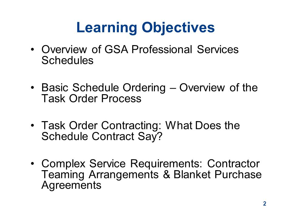 Using Gsa Schedules For Professional Services  Ppt Download