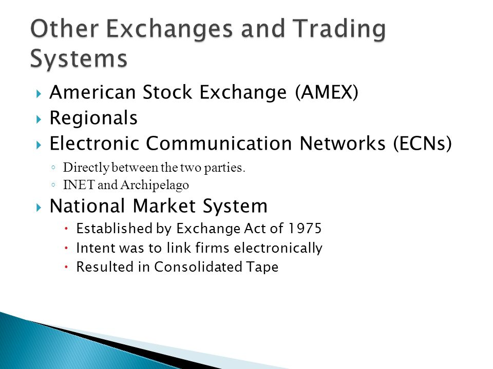 Other Exchanges and Trading Systems