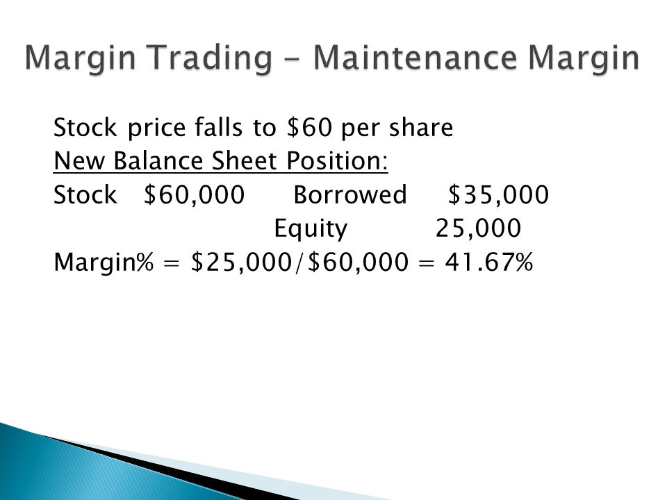 Margin Trading - Maintenance Margin