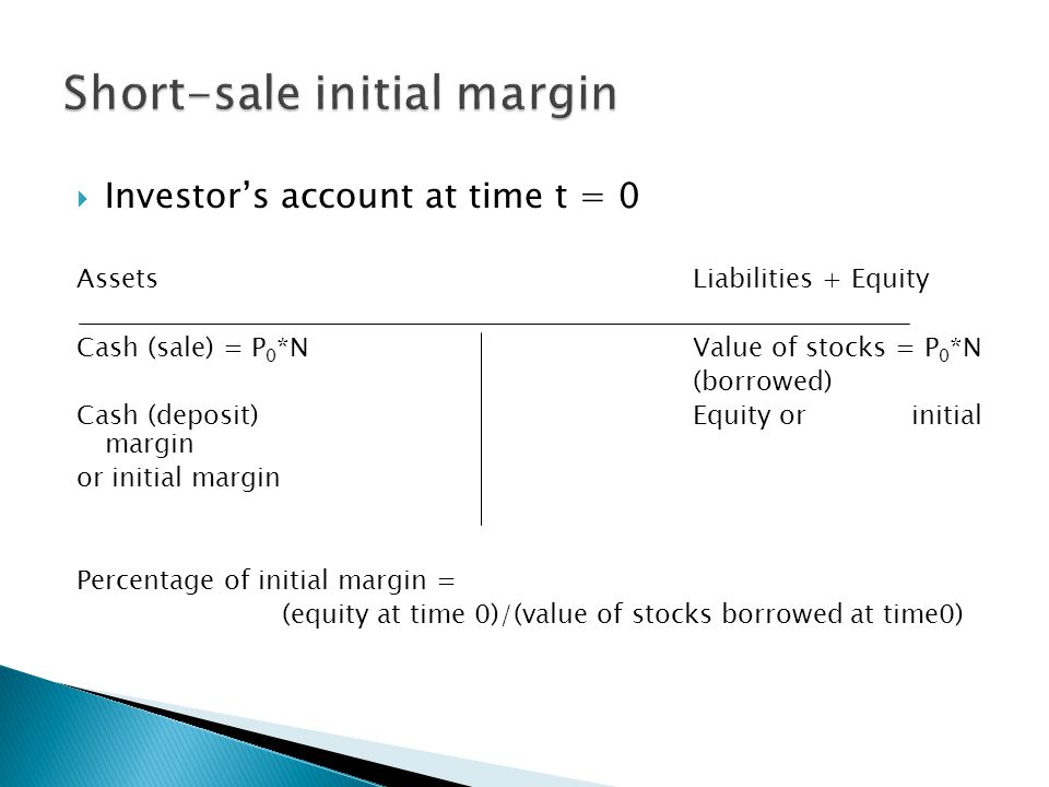 Short-sale initial margin