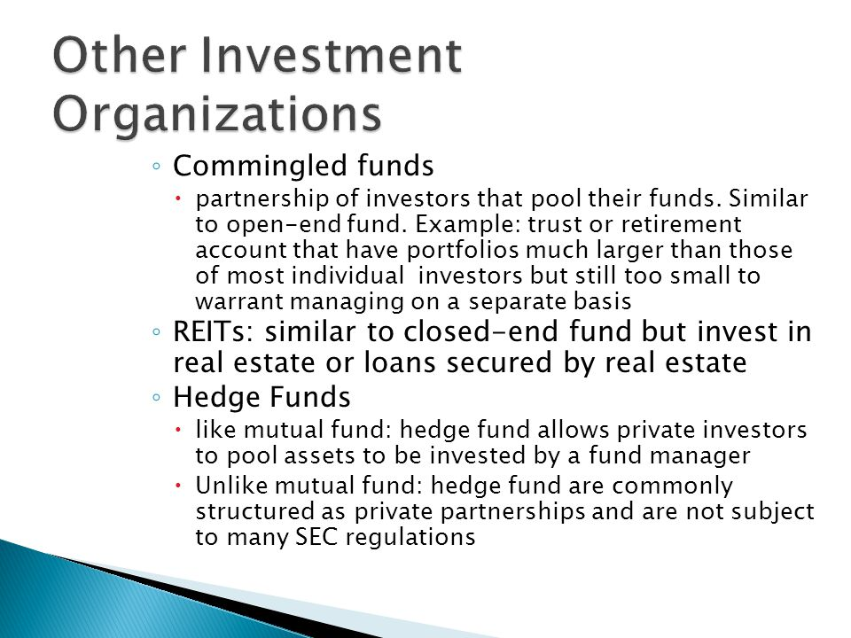 Other Investment Organizations