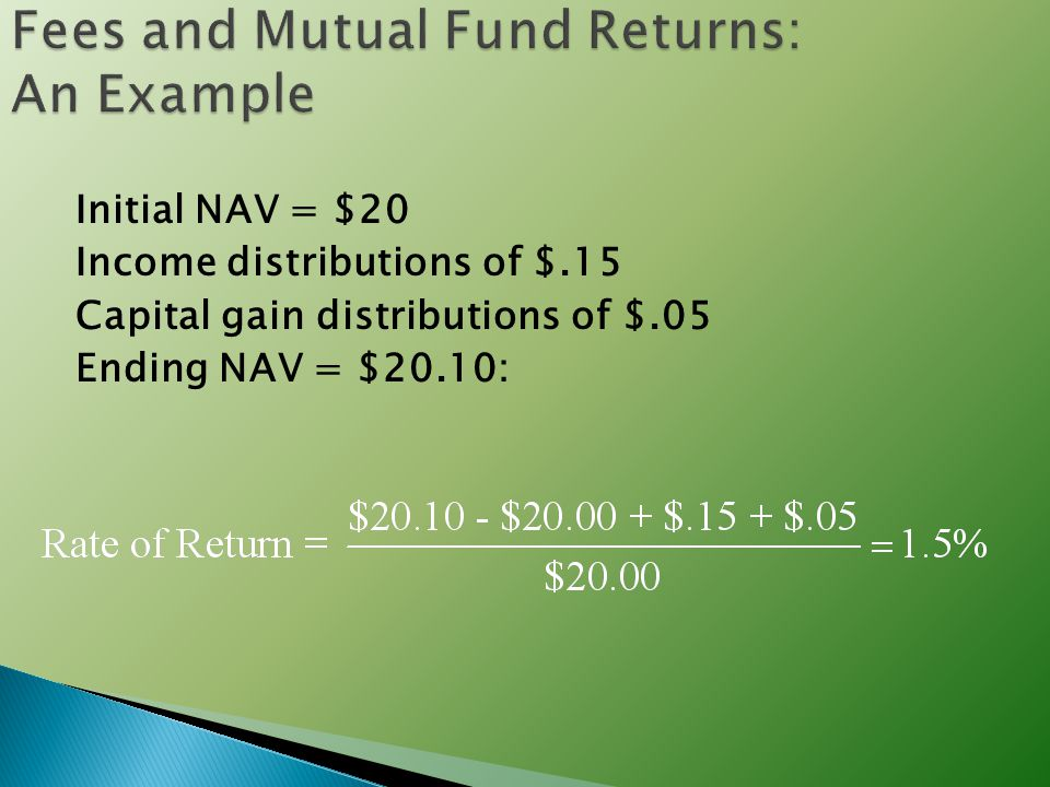 Fees and Mutual Fund Returns: An Example