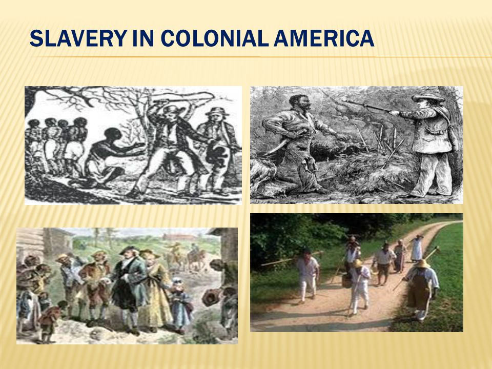 slavery in colonial america research paper
