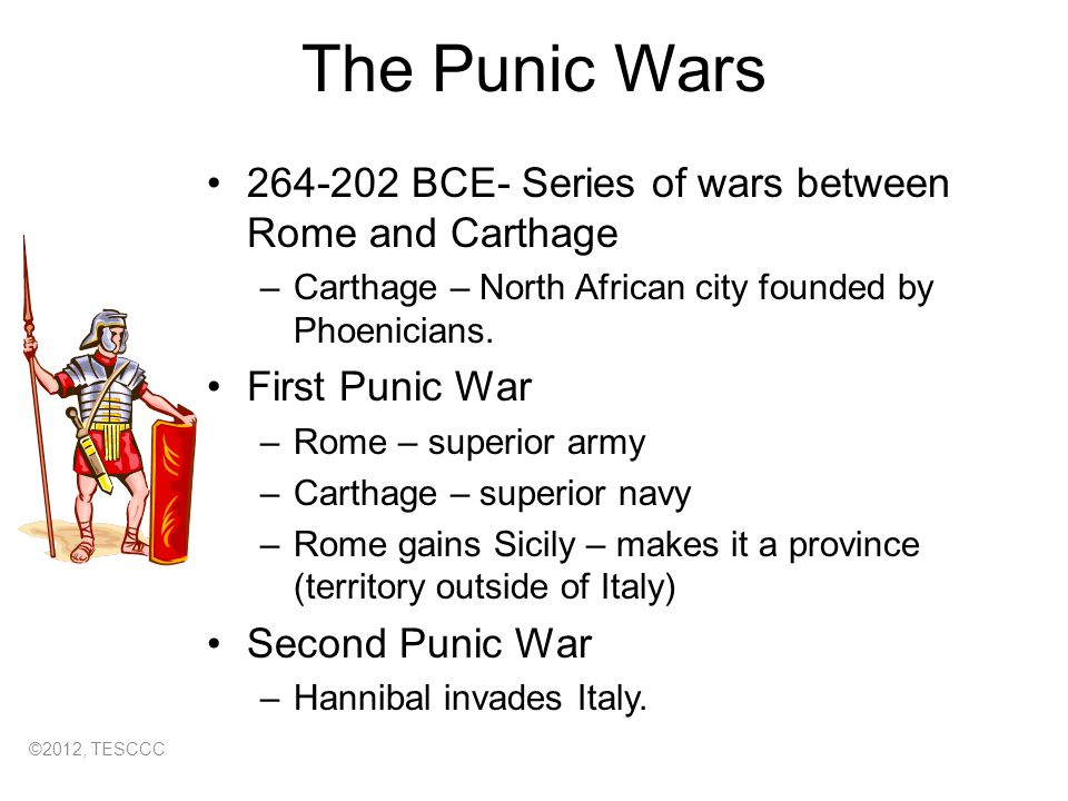A discussion about the punic wars between rome and carthage