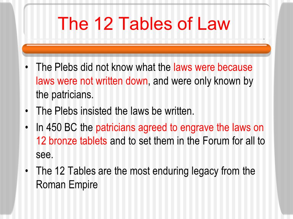 The rise and fall of the roman empire ppt video online for 12 table laws