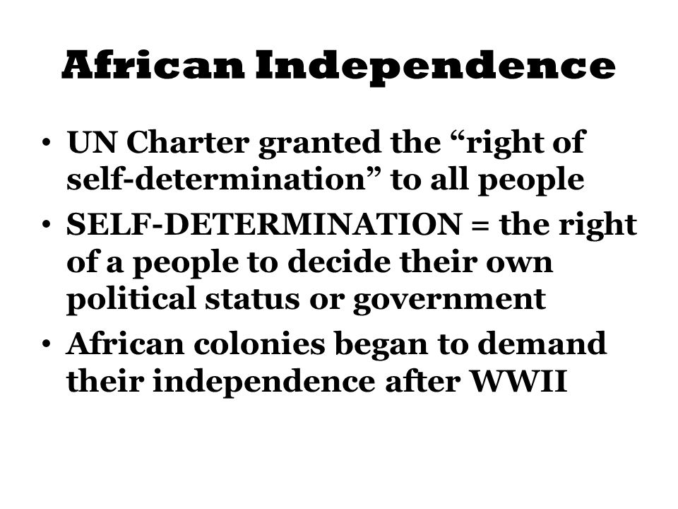 african self rule An atlas of southern african colonization and independence during the decolonization era, explained by country.