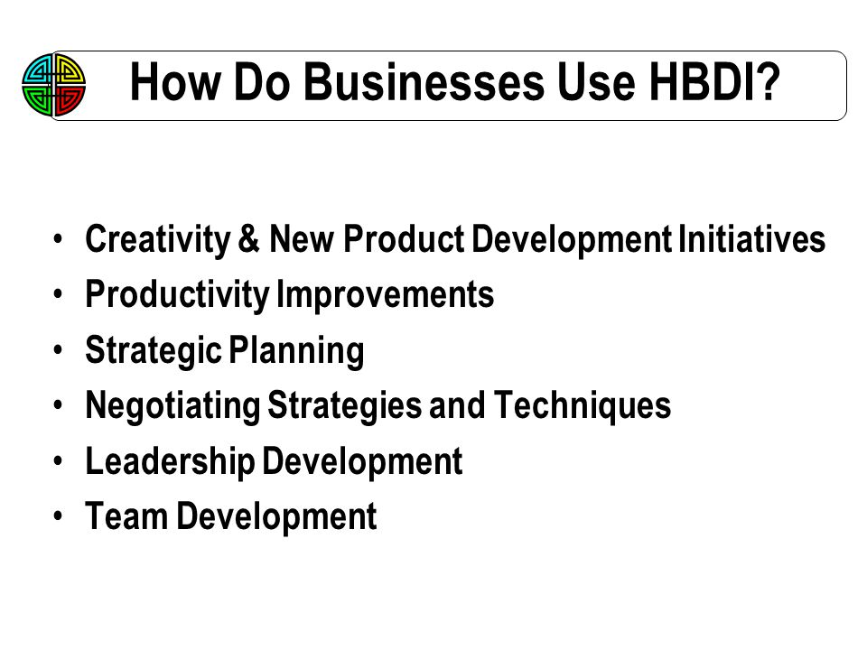 How Do Businesses Use HBDI