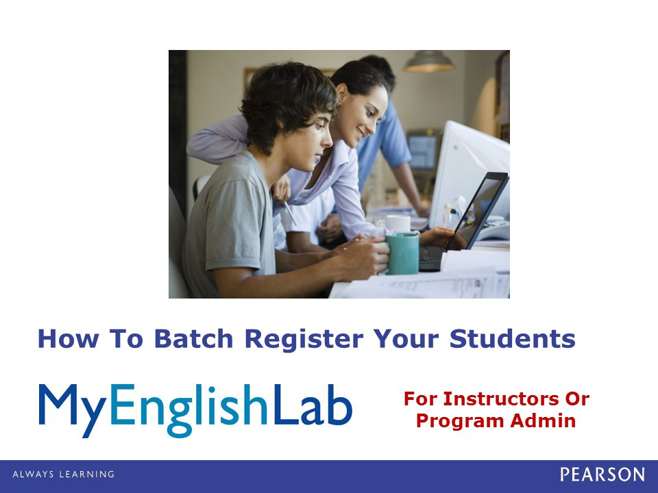 How To Batch Register Your Students