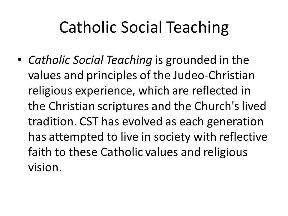 Catholic Social Teaching - ppt download