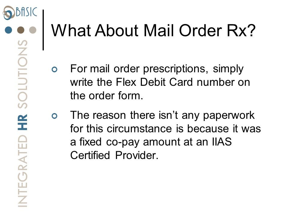 What About Mail Order Rx