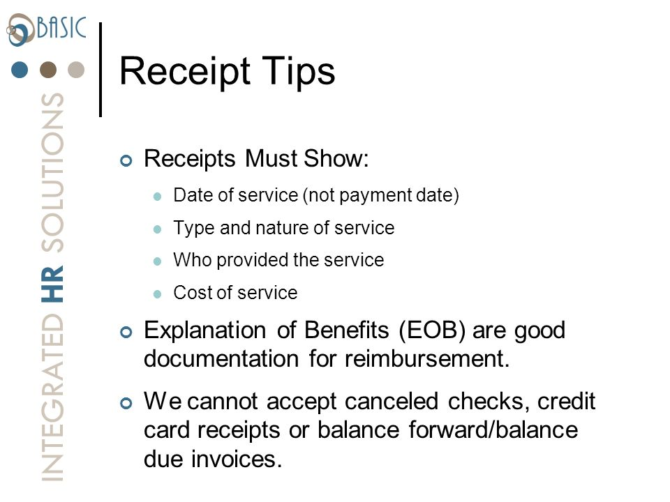 Receipt Tips Receipts Must Show: