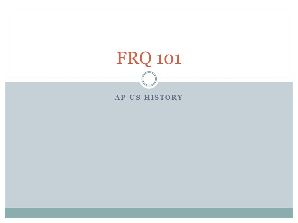 ap us history chapter 20 frq Chapter 20: girding for the war - the north and south 1861-1865.