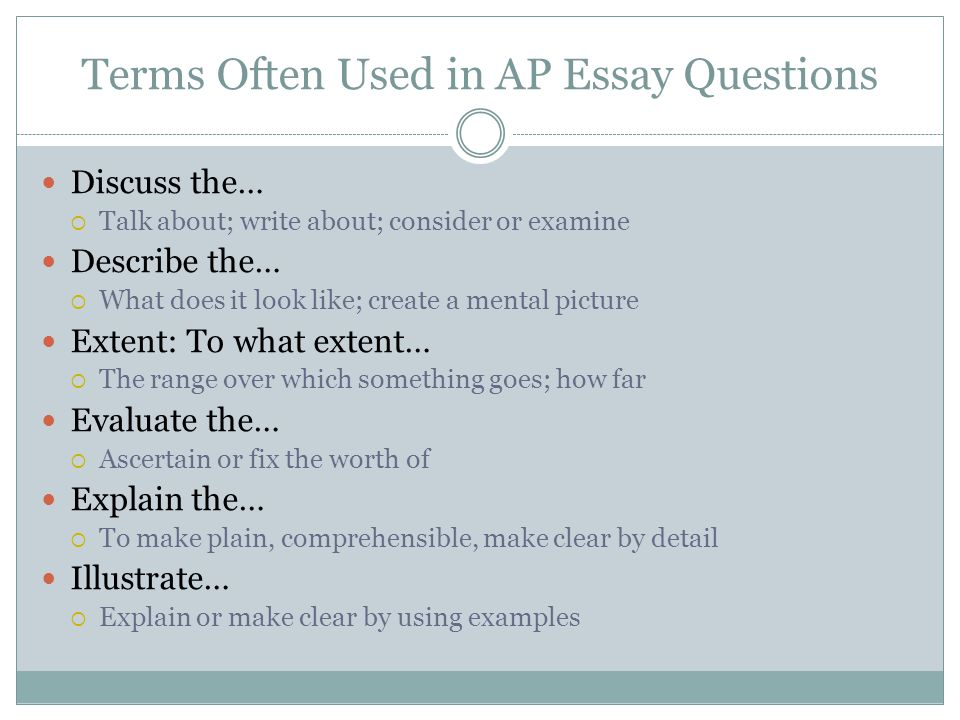 ap us history terms essay Free ap us history practice exams a huge directory of free resources for your apush review practice tests, dbq questions, notes, outlines, & more  1 long essay .