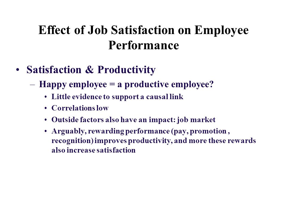 the impact of employee satisfaction on Impact of promotion on job satisfaction and employee turnover e scholars investigated the relationship of jobs satisfaction with demographic determinants as well as the other factors like job autonomy, leadership behavior and promotion system.