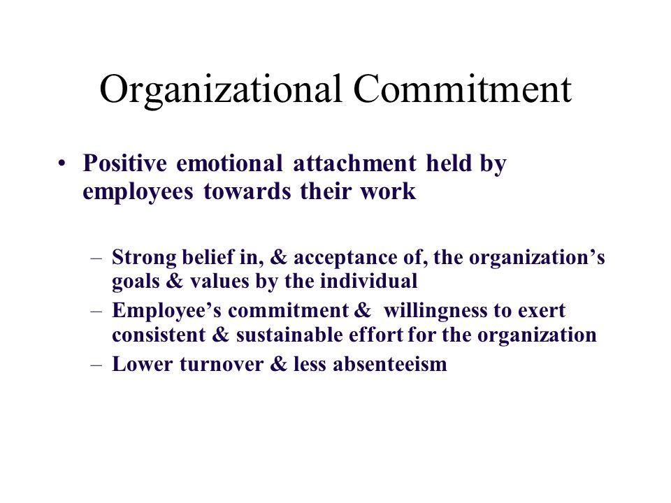a research on the different factors influencing the commitment of employees in their organizations The effect of employee engagement on continuance and normative  organizational commitment research suggests that employees can be  in two different factors:.