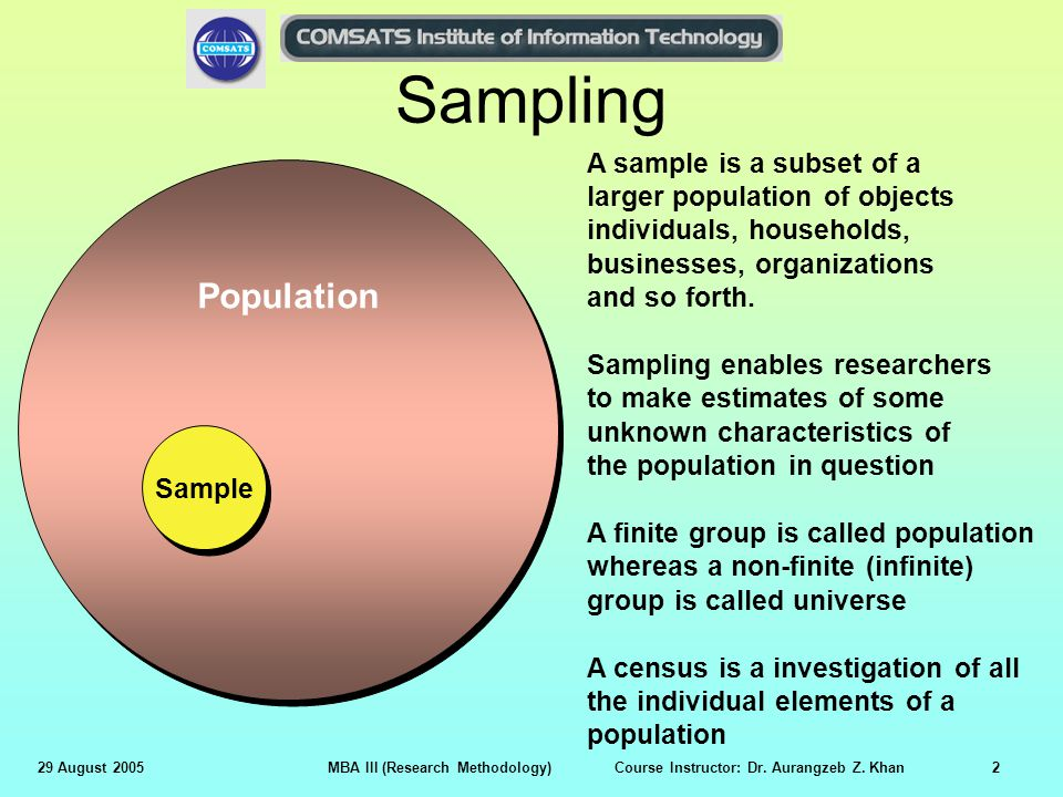 When is sampling more appropriate than taking a census