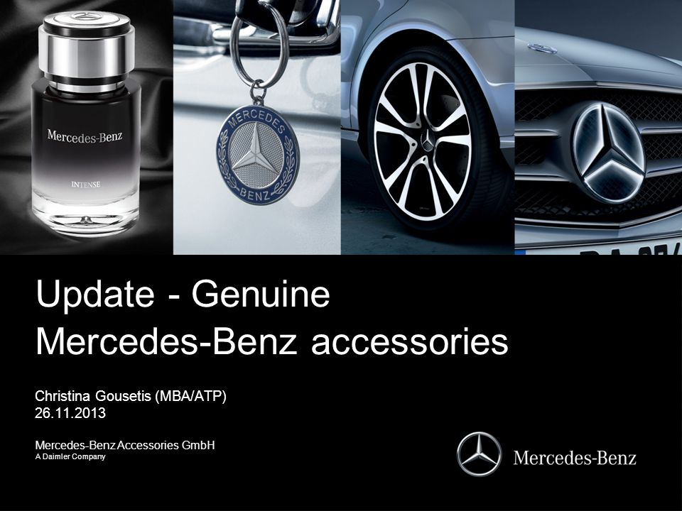 update genuine mercedes benz accessories ppt video. Black Bedroom Furniture Sets. Home Design Ideas
