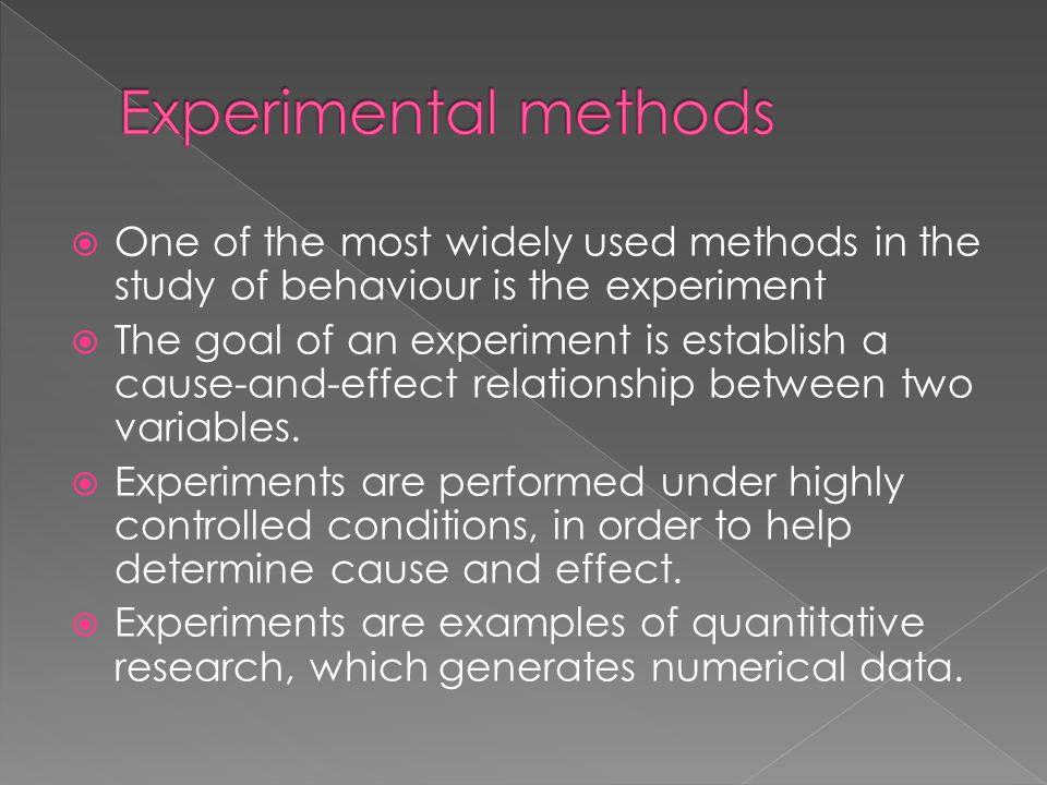 experiments oder experimentes