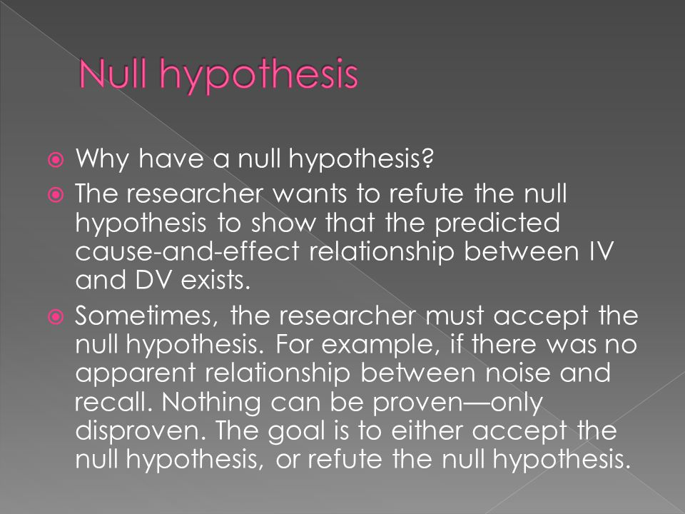 cause and effect relationship hypothesis