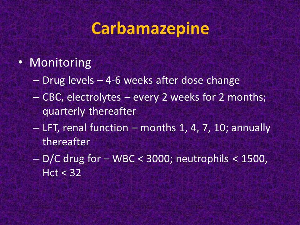 Carbamazepine Dosing Renal Failure