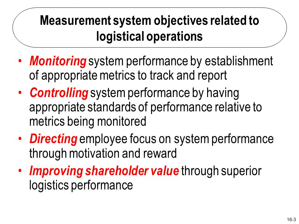 logistics performance definition and measurement Graeml, a r, peinado, j: measuring logistics performance: the effectiveness of mmog/le as perceived by suppliers in the automotive industry journal of operations and supply chain management 4 (1), pp 1 - 12 5 of logistics managers and shows its processes in a way that anybody can understand their meaning.