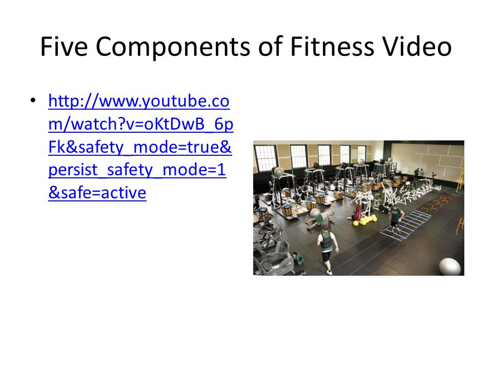 Five Components of Fitness Video