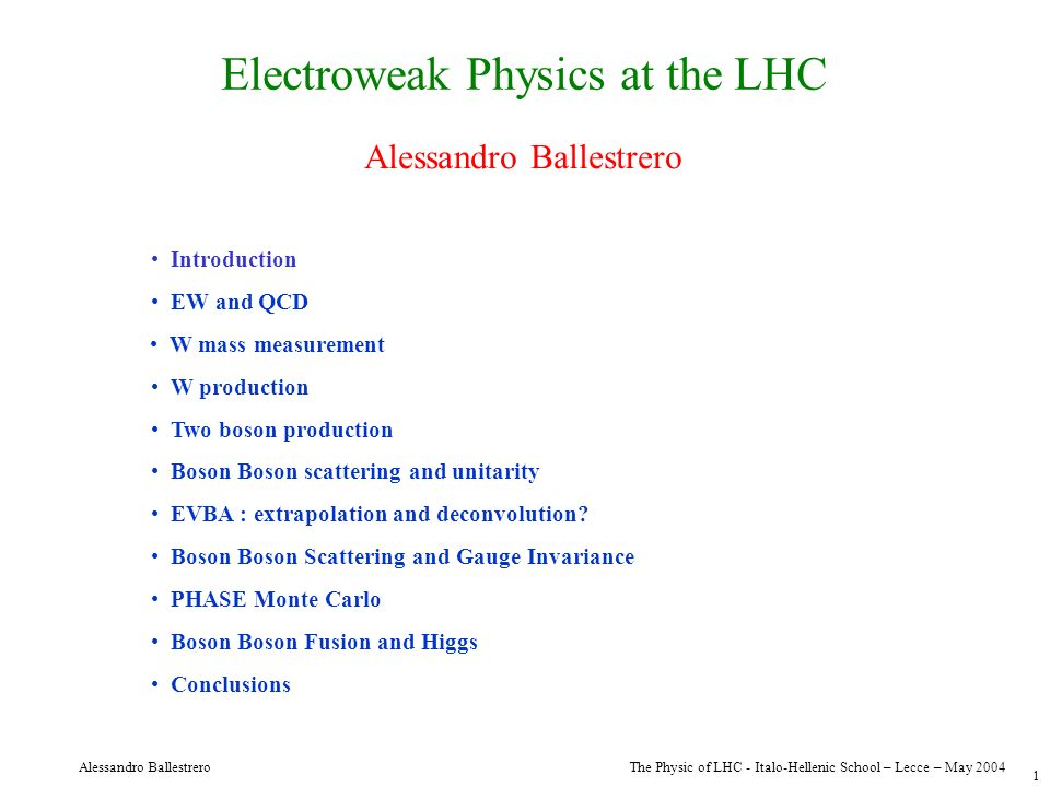 Electroweak Physics at the LHC
