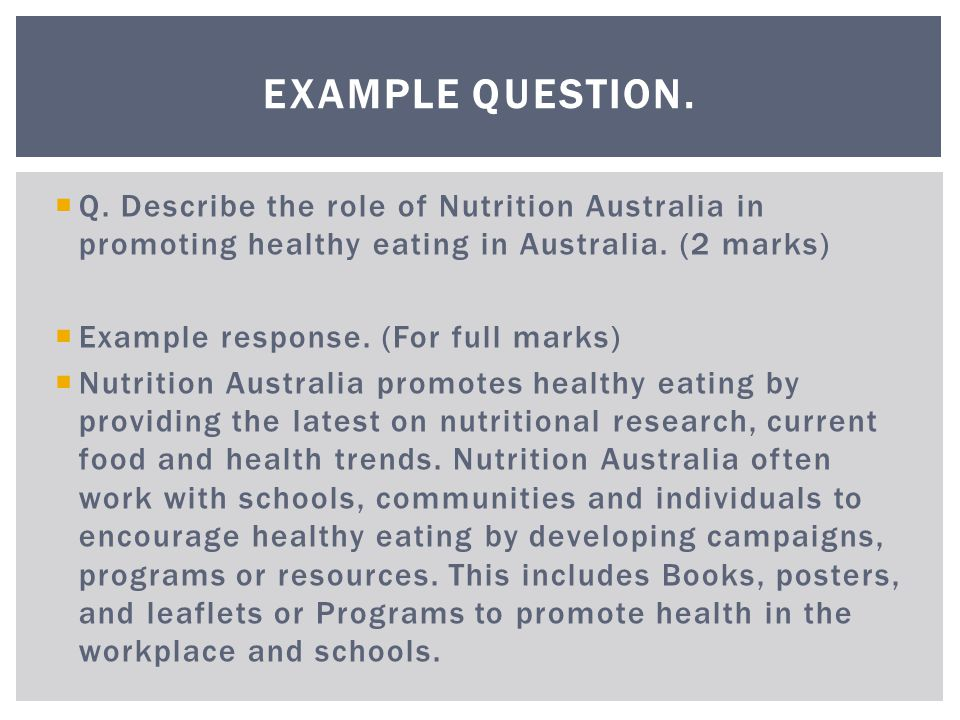 describe the australian guide to healthy eating