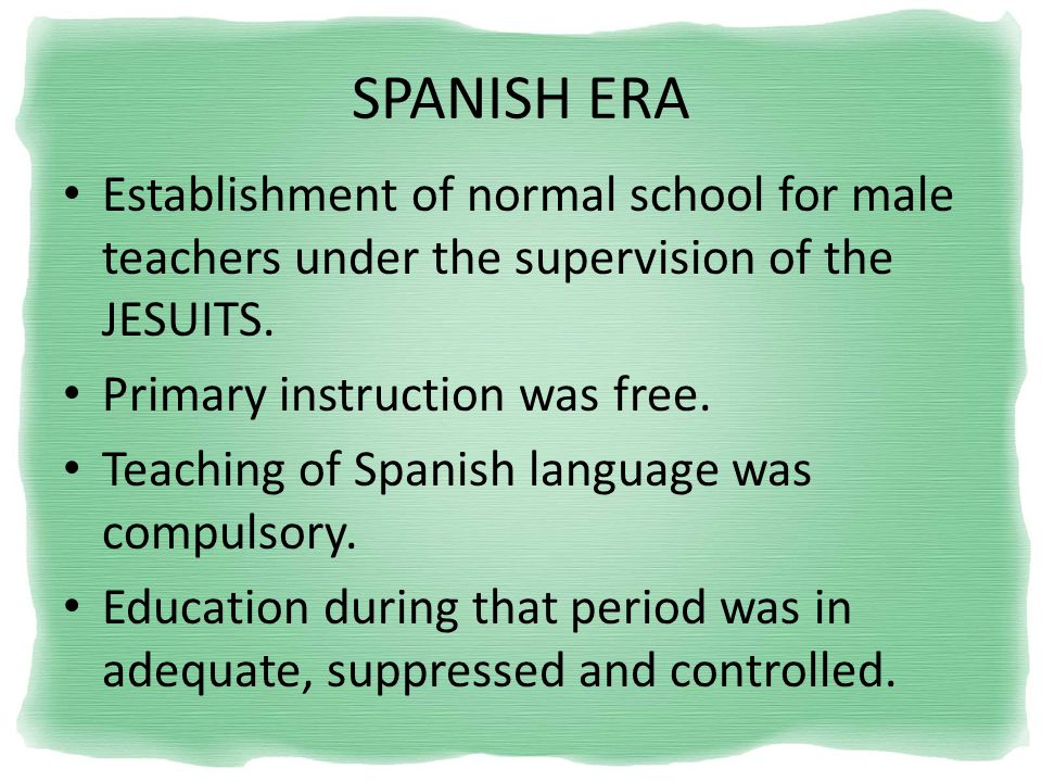 philippine education act decree 1863 Under the compulsory education act of 1921, all finnish children aged seven to  13  all teachers in finland need a master's degree to qualify for a permanent.